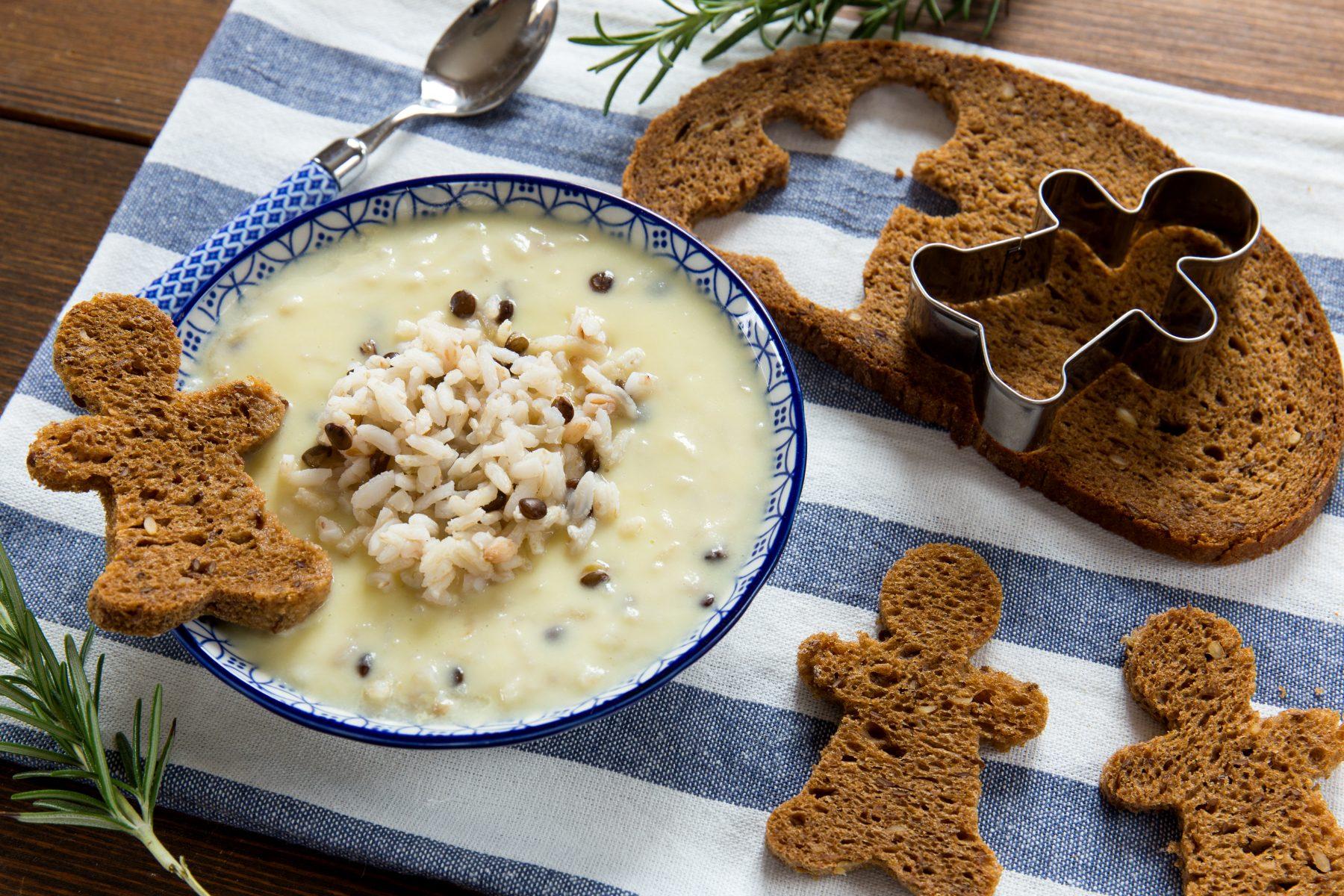 Crema di cavolfiori con cereali