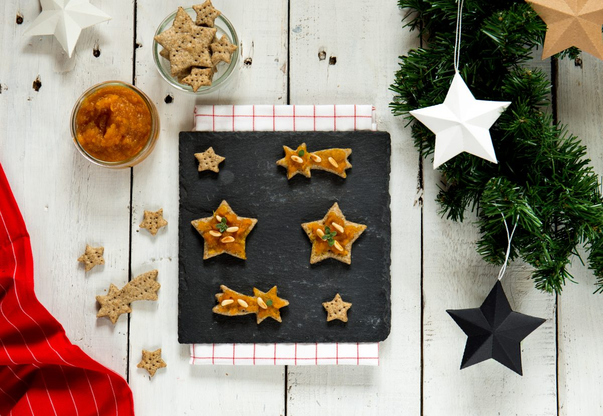 stelle caffè chutney zucca pinoli finger food natalizi