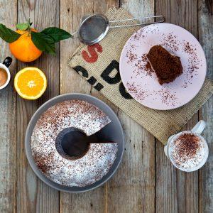 Ciambella arancia cioccolato cannella