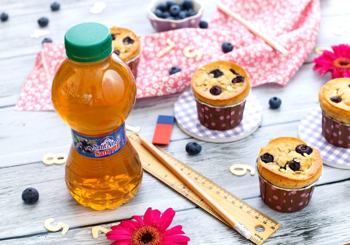 Muffin ai mirtilli con gocce di cioccolato