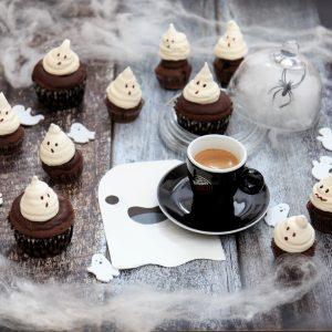 Mini muffin al caffè e cioccolato con fantasma
