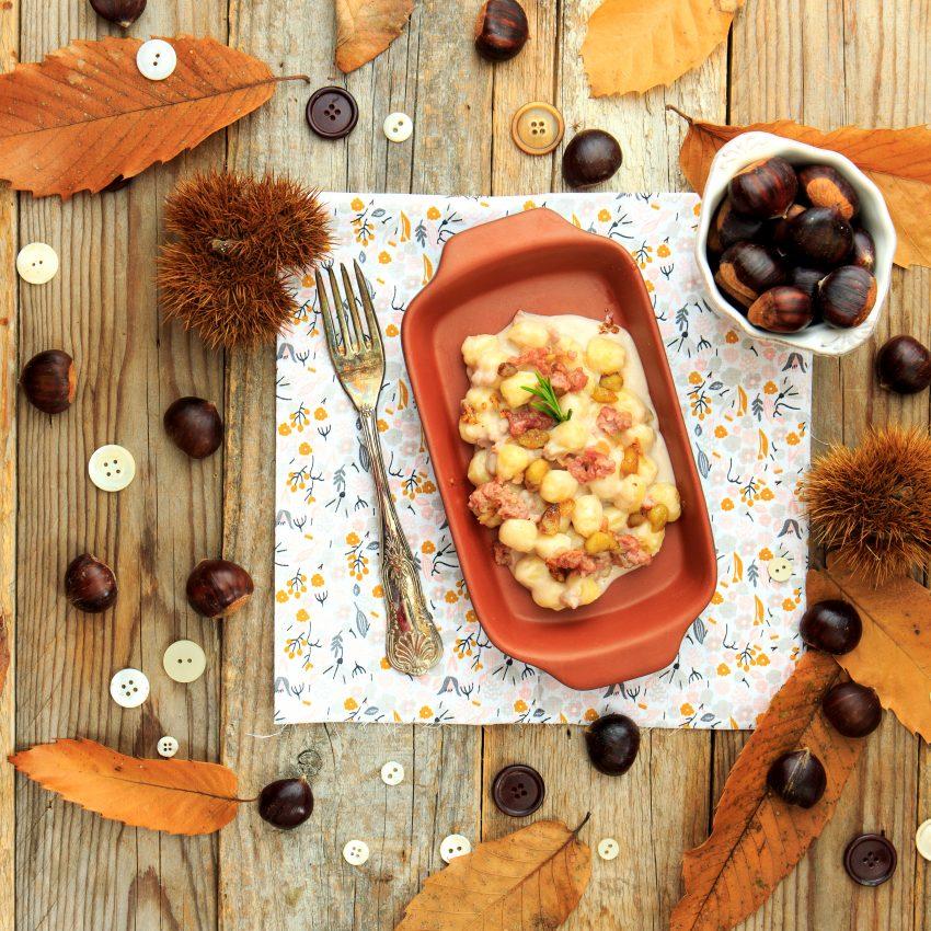 gnocchi castagne e salsiccia